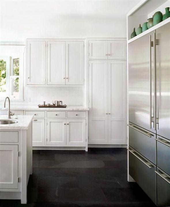Green And Black Kitchen: Best 20+ Slate Floor Kitchen Ideas On Pinterest