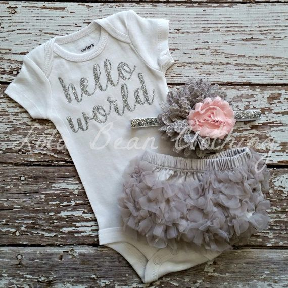 This onesie that lets your baby greet the whole world. | 19 Adorable Outfits To Bring Your Newborn Baby Home In