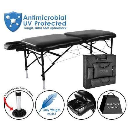 Master Massage Strato Master/Athletico Air Ultralight Portable Table, Black