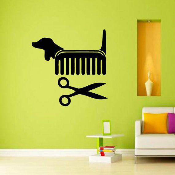 Petshop Vet Grooming Salon Cat Dog Scissors Comb by CozyDecal, $15.99