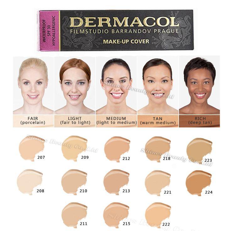 Dermacol make up tampa base de cartilha base da Fundação 30g marca corretivo…
