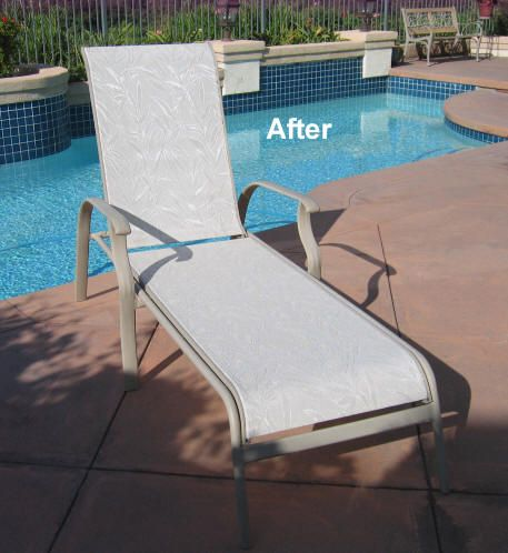 Patio Furniture Replacement Slings Fabric | Pool Chaise Fabric Sling  Replacements In California