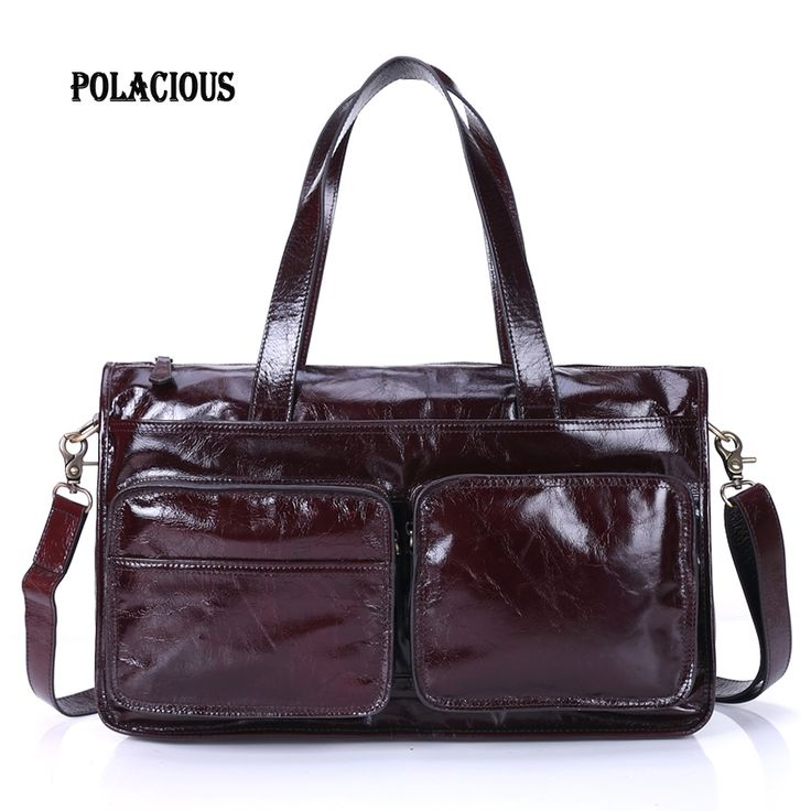 119.38$  Buy here - http://ali1pi.worldwells.pw/go.php?t=32754832661 - Genuine Leather Men Bag Crazy Horse Leather Men's Handbags Casual Business Laptop Shoulder Bags Briefcase Messenger bag 2016 NEW