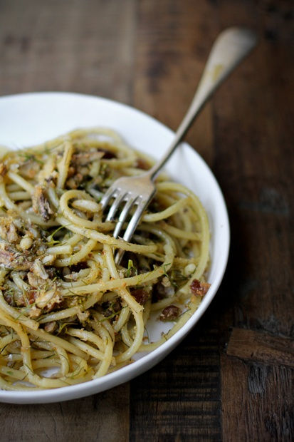 Bucatini with Sardines by Vanilla http://vanigliacooking.blogspot.it/2012/09/bucatini-alle-sarde-con-finocchietto.html