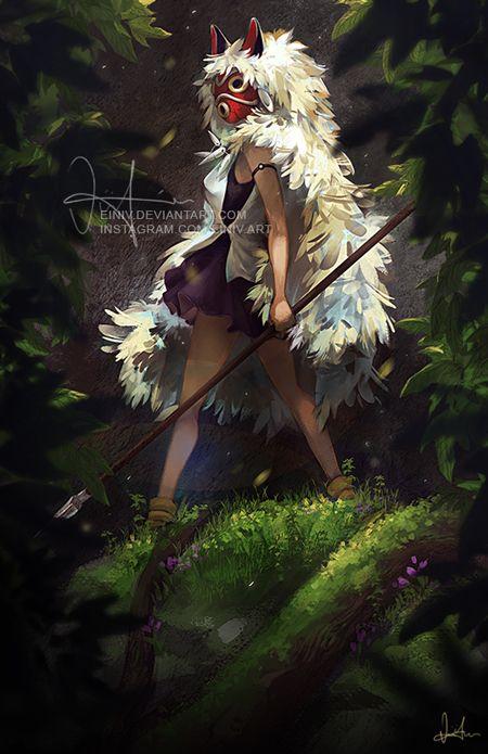 Princess Mononoke by einiv.deviantart.com on @DeviantArt