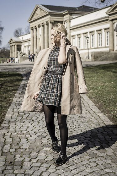 Get this look: http://lb.nu/look/8645059  More looks by Adriana M.: http://lb.nu/lilicons  Items in this look:  Missguided Checkered Retro Dress, Zara Classic Beige Trench Coat, Nik Flats   #retro #street #vintage #casual #streetstyle #lookbook #lookbooker #today #outfit