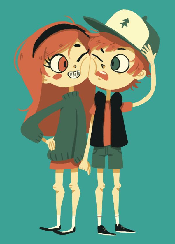 I love the way Mabel looks in this picture! Don't really care for the way Dipper's drawn though...