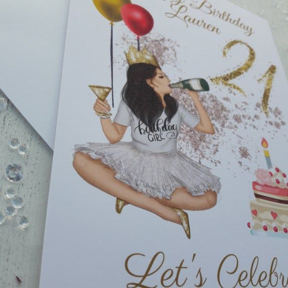 Personalised 21st Birthday Twenty First Birthday Card Any Etsy First Birthday Cards 21st Birthday Cards 16th Birthday Card