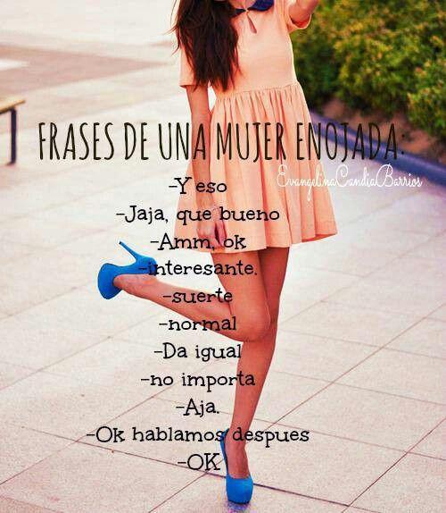 Frases de una mujer enojada