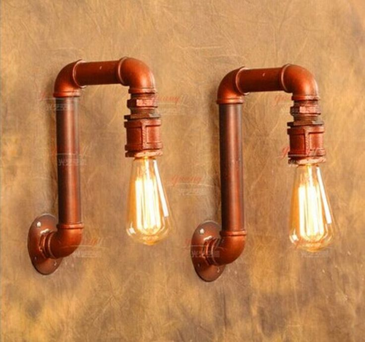 Amerikaanse Dorp Loft Industriële Edison Stijl Vintage Wandlamp Lamp, Retro  Waterleiding Lamp Wandkandelaar Gratis Verzending