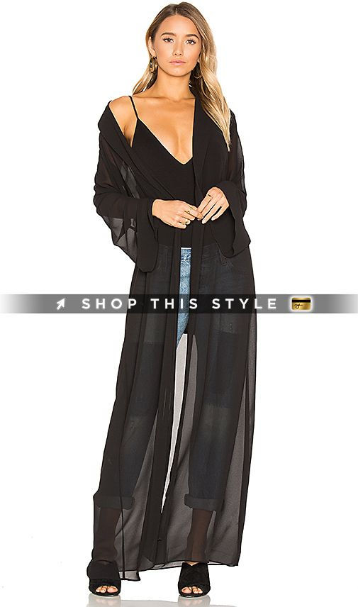 House of Harlow 1960 x REVOLVE Ruby Jacket in Black. - size L (also in M,S,XS) House of Harlow 1960 x REVOLVE Ruby Jacket in Black. - size L (also in M,S,XS) 100% poly. Hand wash. Open front. Belted waist. Sheer fabric. HOOF-WO22. HHJC39 S17. Bohemian Chic - a term coined to describe the effortless style of the quintessential laid-back LA girl with an eye for high fashion-Nicole Richie. Raised in the spotlight by famously creative parents, Nicole was born with an innate style vision, o..
