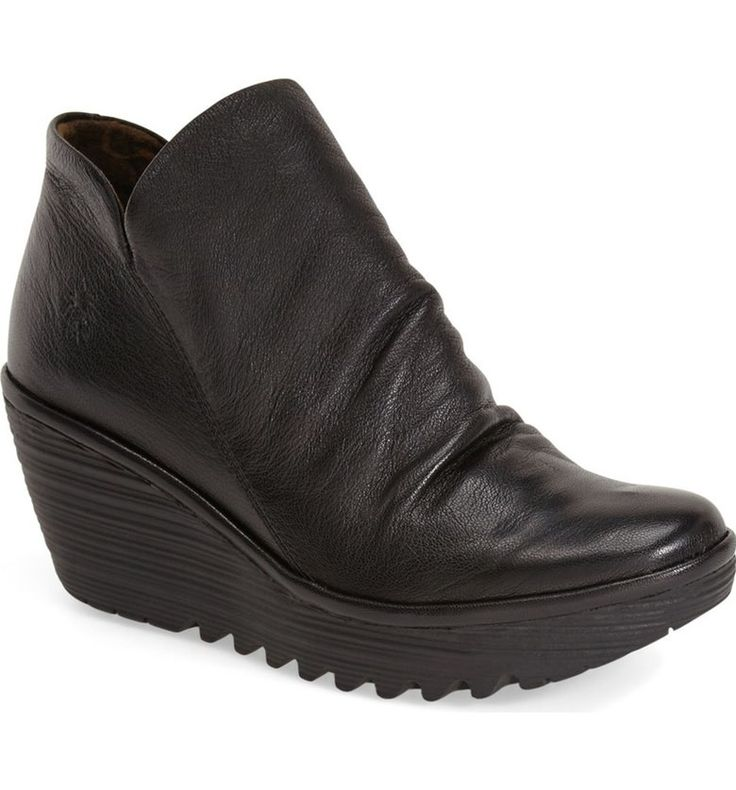 Fly London Yip Black Mousse Women's Booties