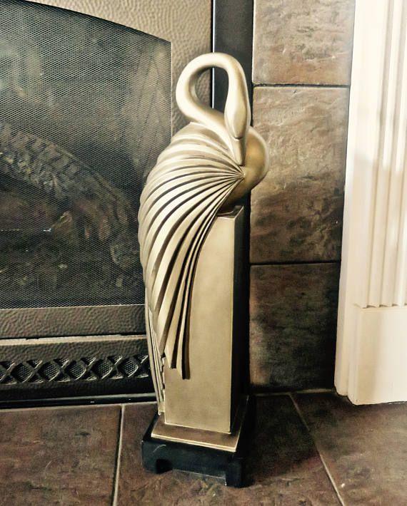 Art Deco Statue 23 Preening Swan Austin Sculptures