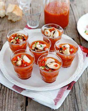 Gazpacho met mosselen