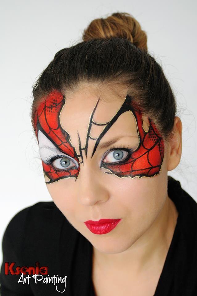 resultado de imagen de spiderman ksenia face painting designspaint designsadult - Halloween Face Paint Ideas For Adults