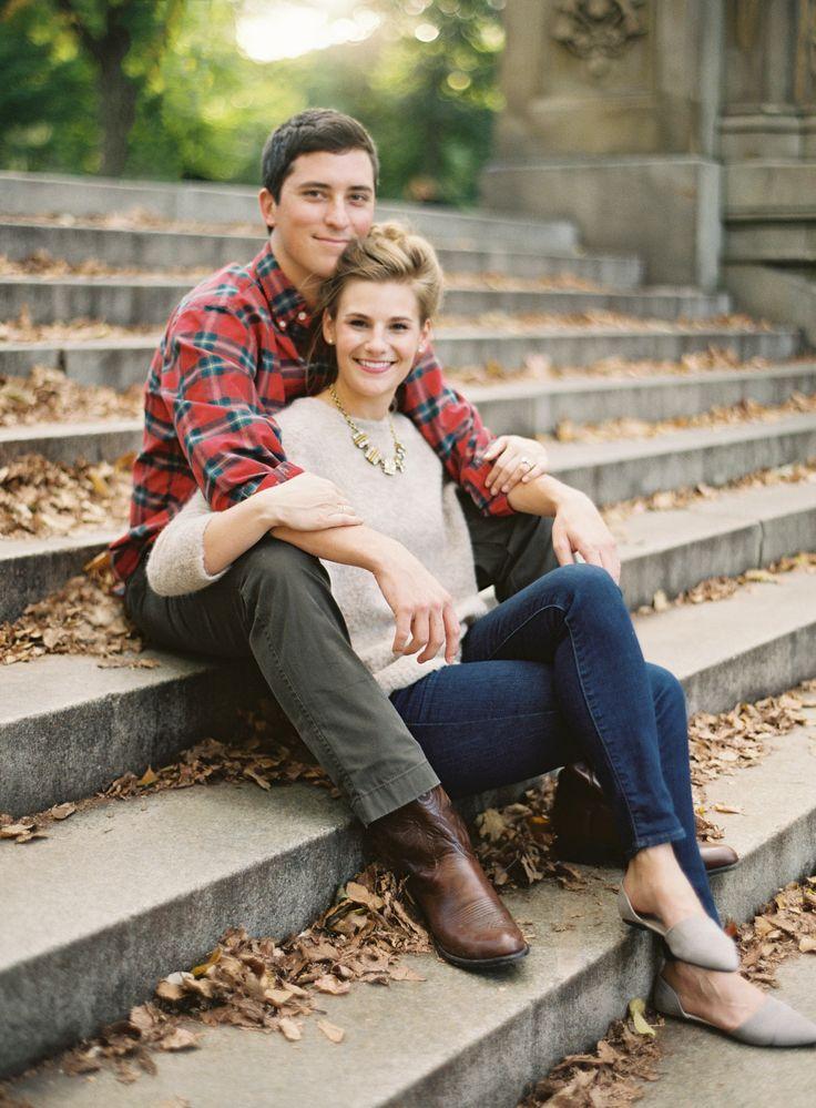 Verlobungssitzung im Herbst in Manhattan