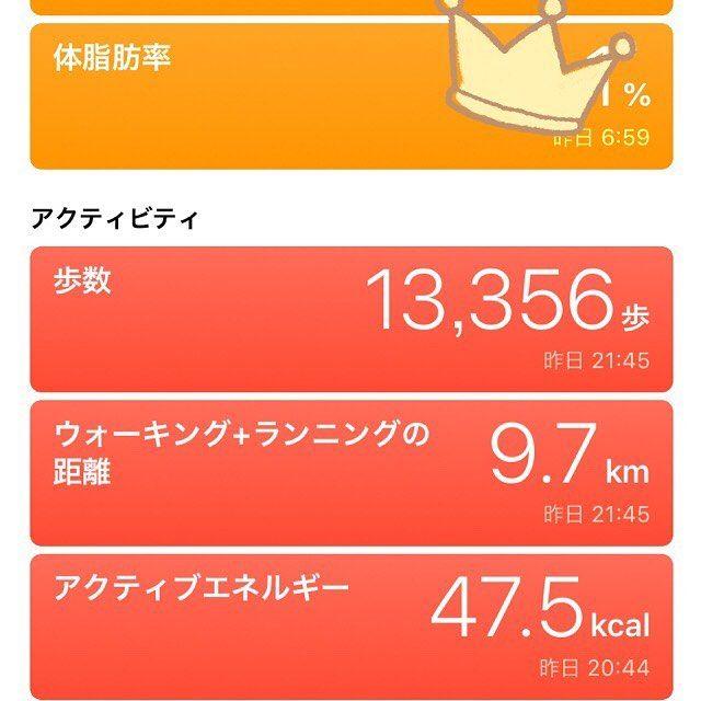 昨日こんなに歩いた たくさん飲んで食べたけれど体重久しぶりに見る数字まで減ってた 記録 ウォーキング Habit 運動記録 Keystonehabit 持続可能なダイエット 47 45th