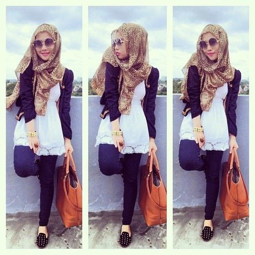 A Casual Day Hijabers Pinterest Casual Hijab Styles Hijabs And Hijab Styles