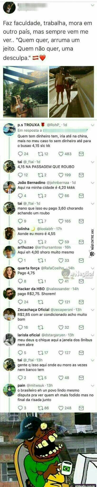 O bom do Brasil é os brasileiros