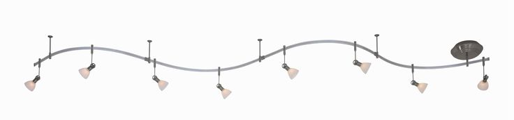 Kovacs GK P4078 8 Light Monorail Track Light Kit from the GK LIGHTRAIL® Collecti Brushed Nickel Indoor Lighting Track Lighting Kits