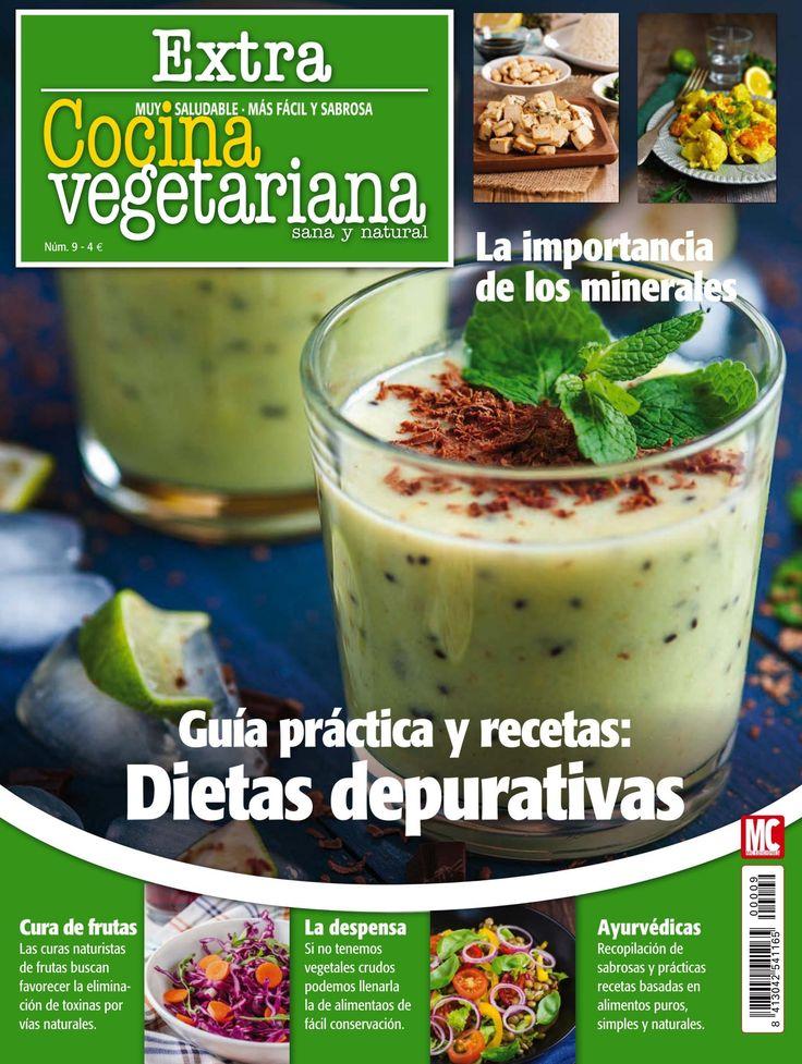 #Cocina #Vegetariana Extra 9, #marzo 2016. #Dietas #depurativas: guía práctica y #recetas. #Ayurvéticas, cura de #frutas y la importancia de los #minerales.