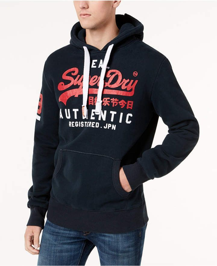 Superdry Men S Vintage Logo Duo Hoodie Superdry Mens Vintage Men Mens Sweatshirts