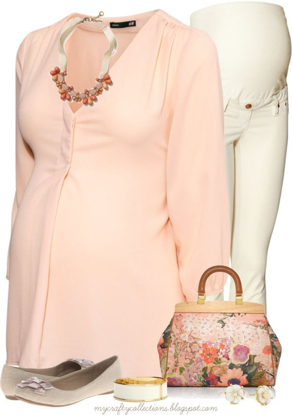 Maternity Outfit: Signs of Spring - Featuring items from H&M, 6PM, Tory Burch, Amazon, and Banana Republic.