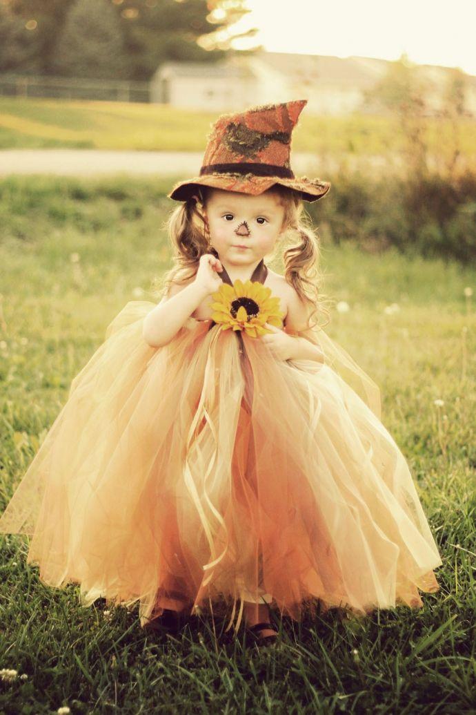 Halloween Costume..Little scarecrow tutu dress & Hat