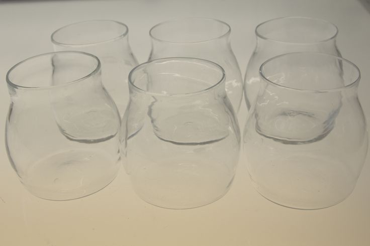 Mold blown drinking glasses (2016), made by Sini Kauranen See more: http://akita.arkku.net/english