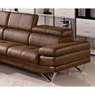 """Divani Casa 1218 - Modern Fabric Sectional Sofa. This Modern Sectional Sofa Set includes adjustable headrests and high density foam upholstery that maintains your total comfort. It has a vintage look in its brown color, it will fit well with a wide range of interior decor. - Sectional: W75"""" x D41"""" x H25"""""""