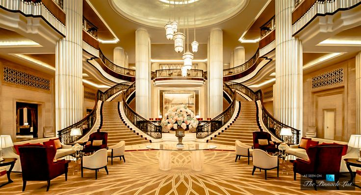 St regis luxury hotel abu dhabi uae grand lobby for Hotel lobby design trends
