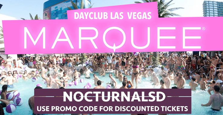 MARQUEE DAYCLUB POOL PARTY LAS VEGAS DISCOUNT PROMO CODE 2017  Promo Code: NOCTURNALSD  CLICK HERE FOR 10% OFF  To get discounted tickets to TAO Las Vegas  ticket link http://www.marqueelasvegas.com/events  tickets info https://nocturnalsd.com/event/marquee-dayclub-pool-party-las-vegas-discount-promo-code-2017/2017-09-10/  |Recurring Event (See all)  Marquee Dayclub Pool Party Las Vegas Discount Promo Code 2017  MARQUEE DAYCLUB POOL PARTY LAS VEGAS DISCOUNT PROMO CODE 2017  Marquee Dayclub…