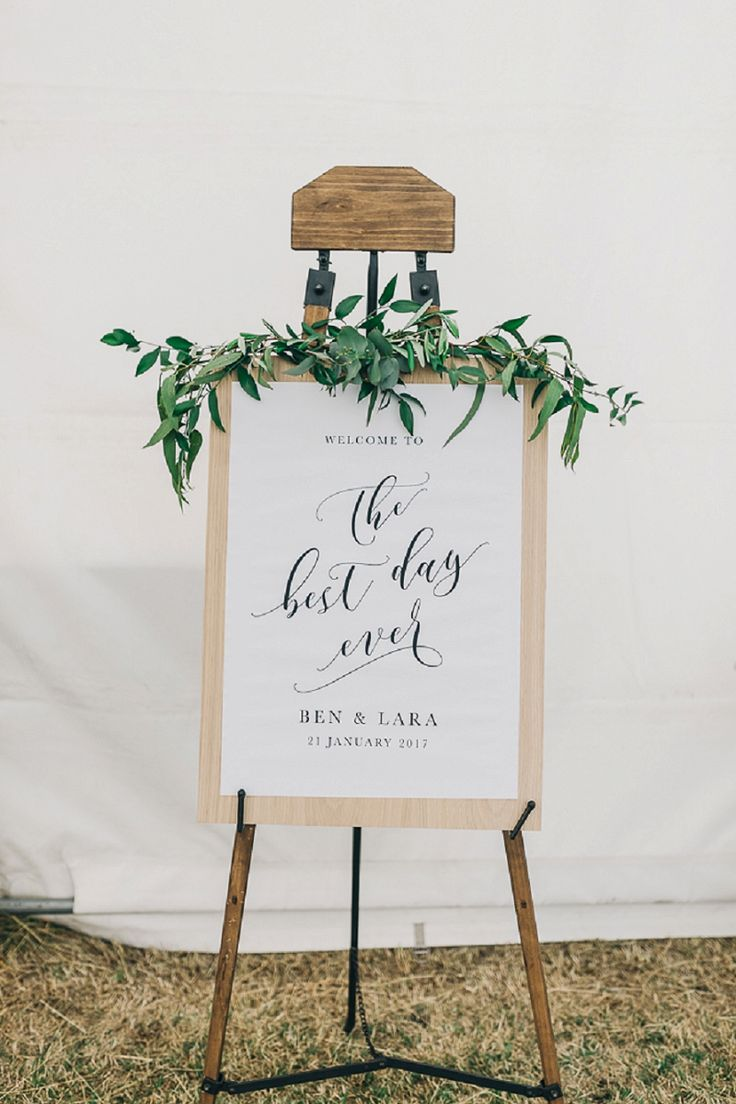 the best day ever wedding sign