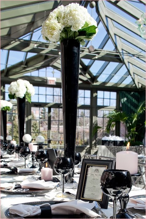 looove this venue and Chanel theme -Lucia Paul Design