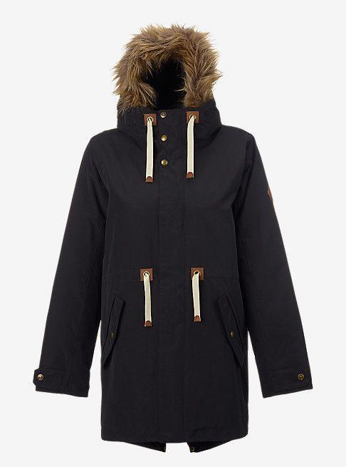 Burton Saxton Parka Jacket shown in True Black