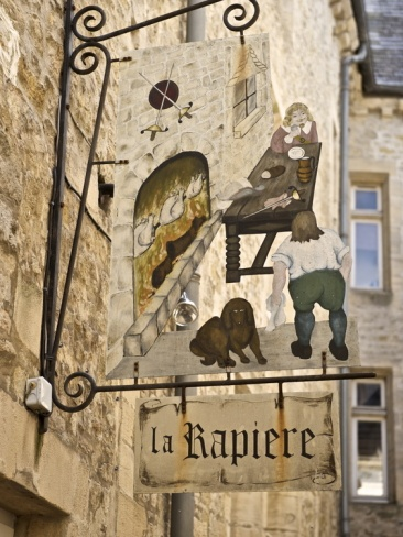 Inn Sign in the Old Town, Bayeux, Calvados, Normandy, France