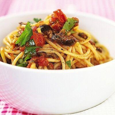 Vegetarisk pasta puttanesca