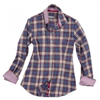 Camicia a quadri con doppio tessuto sulle maniche e sul colletto.    Seguici anche su                           www.redisrappresentanze.it