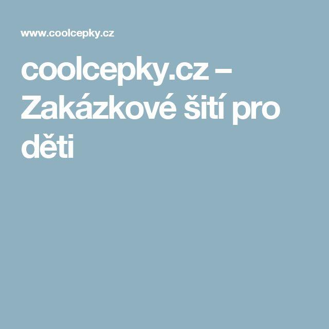 coolcepky.cz – Zakázkové šití pro děti