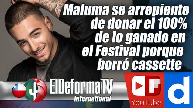 Maluma se arrepiente de donar el 100% de lo ganado en el Festival porque...