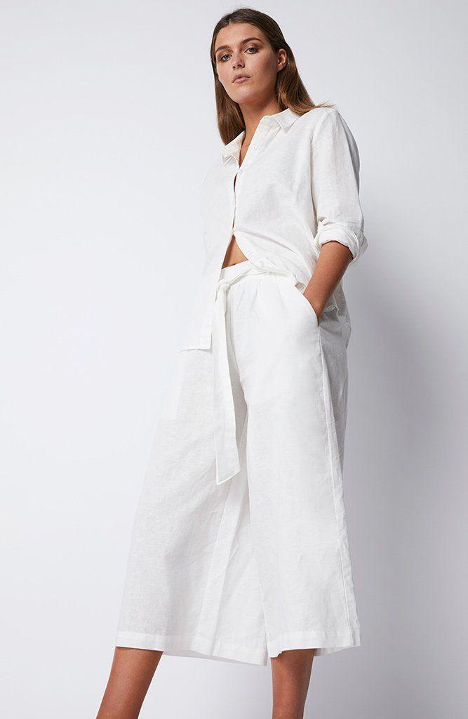 STAPLE THE LABEL - Ub1704435 Staple The Label Linen Pant - White