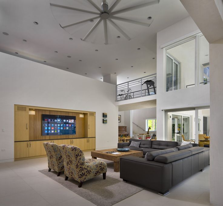 """Domus Alba"" LEED Gold home in Pinecrest, Florida. Designed by David Harper FAIA, LEED AP. Seriously green climate control in Florida features zone air conditioning, natural ventilation that takes advantage of prevailing breezes, and our Isis ceiling fan."