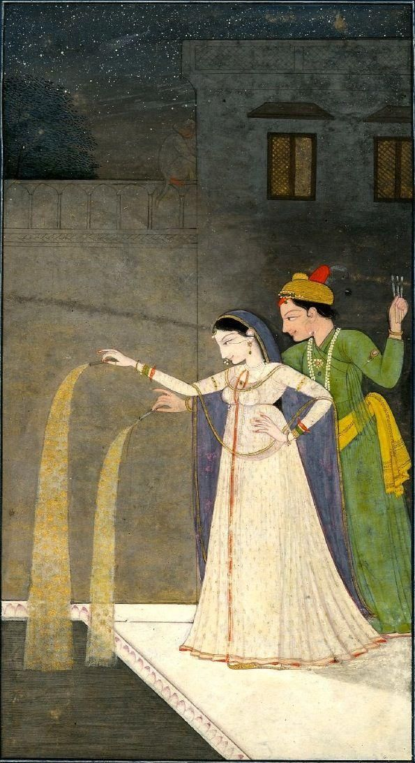 @WhiteMughalsFan Here, some more celebration of #Diwali in the #Mughal courts.