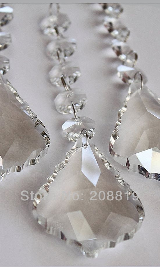 40pcs Lot 1meter 45pcs Beads 1pendant Crystal Curtain Garland