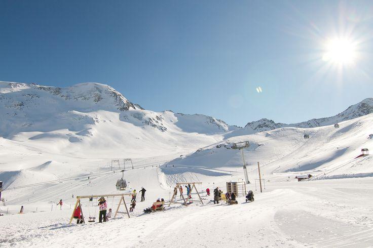 Skiing in the alps at Kaunertal Glacier, Austria #Winter #Kaunertal