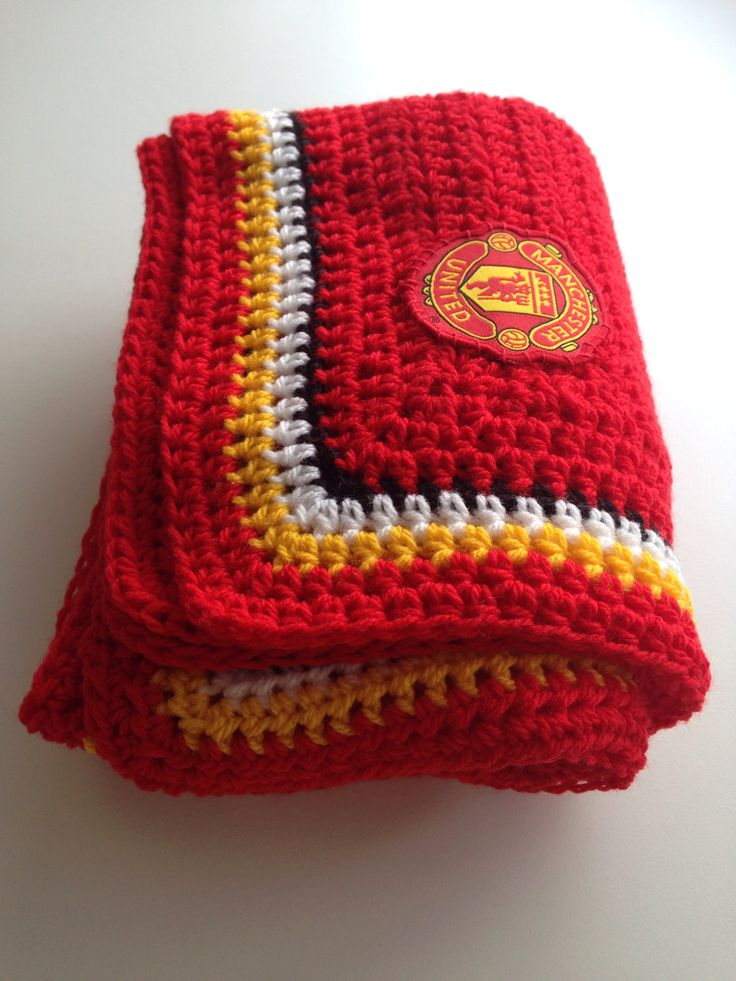 Manchester United baby blanket | Quirkee Crochet ...