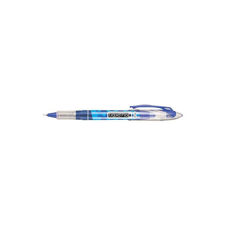 Paper Mate Liquid Flair Porous Point Stick Pen, Extra Fine- Blue Ink (12 per Pack)