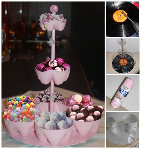 DIY Candy Stand Out of Bottles