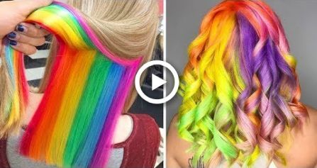 Cool Rainbow Hair Color Ideas  Amazing Hair Color Transformation