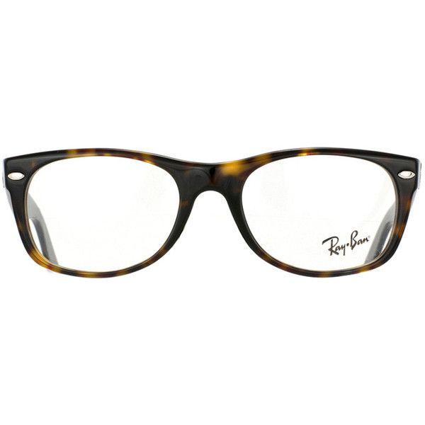 Ray Ban RX5184 New Wayfarer 2012 glasses ($100) ❤ liked on Polyvore featuring accessories, eyewear, eyeglasses, glasses, tortoise, tortoiseshell glasses, tortoise shell eyeglasses, tortoise shell glasses, tortoise glasses et wayfare